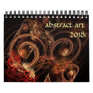 Calendario Arte abstracto moderno 2018