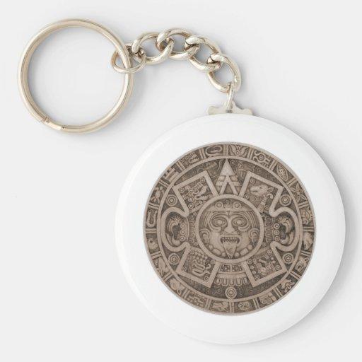 Calendario azteca llavero