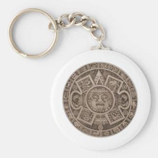 Calendario azteca llavero redondo tipo chapa