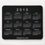 Calendario blanco de neón 2015 de Janz Mousepad Alfombrillas De Raton