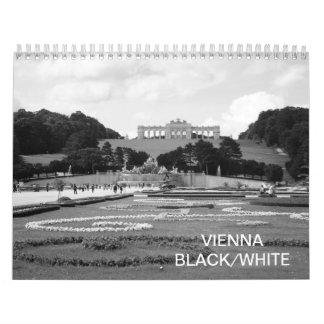 Calendario Blanco negro 2018 de Viena Austria