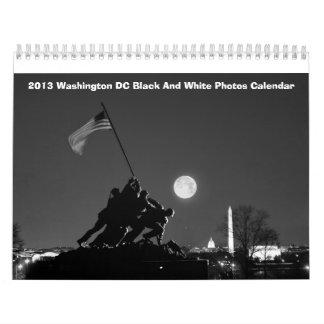 Calendario blanco y negro 2013 de las fotos del