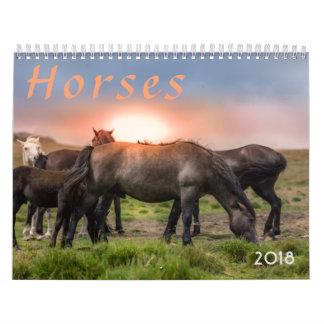 Calendario Caballos 2018