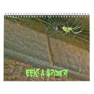 Calendario ¡Calendario - EEK! ¡Una araña!