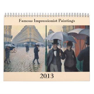 Calendario Cambios impresionistas famosos del ~ de las