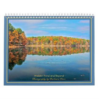 Calendario Charca 2018 de Walden y más allá: con citas