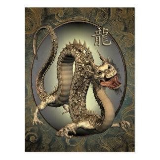 Calendario chino del dragón 2012 del vintage postal