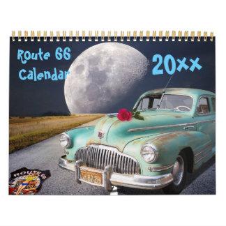 Calendario clásico 2018 de la ruta 66