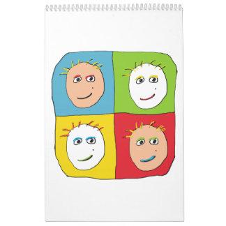 Calendario clásico de Stickman del arte