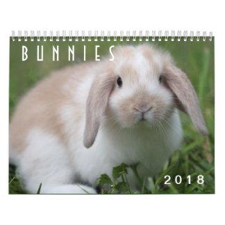 Calendario Conejitos 2018 - 12 meses de conejos de conejito