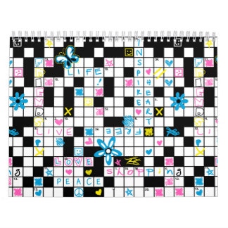 Calendario Crucigrama del chica