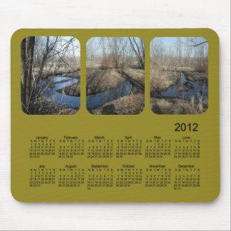 Calendario de 2012 paisajes alfombrilla de ratón