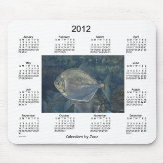 Calendario de 2012 pescados alfombrilla de ratón