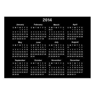 Calendario de 2014 bolsillos tarjetas de visita grandes