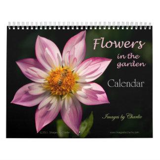 Calendario de 2017 flores (o seleccione cualquier