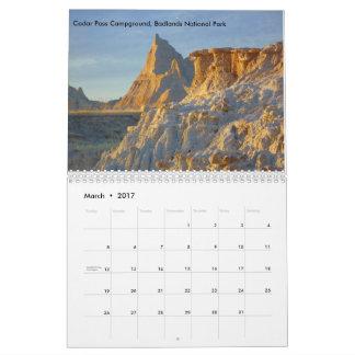 Calendario de 2017 paisajes del parque nacional