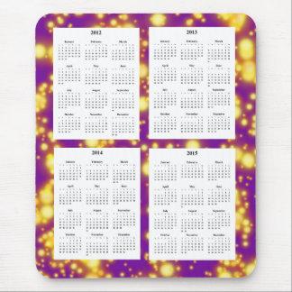 Calendario de 4 años (2012-2015) alfombrilla de ratón