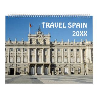 calendario de España del viaje de 12 meses