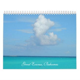 Calendario de gran Exuma, Bahamas
