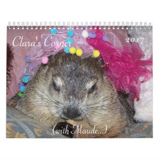 Calendario de la esquina 2017 de Groundhog de