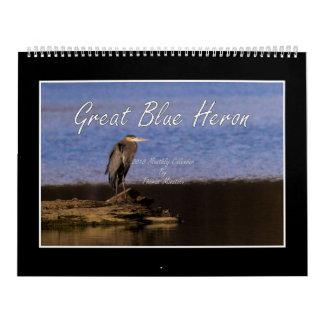 Calendario de la garza de gran azul 2018 de Thomas