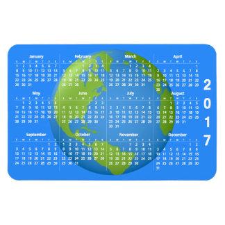Calendario de la obra clásica 2017 de la tierra iman