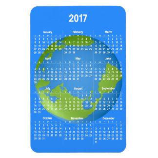 Calendario de la obra clásica 2017 de la tierra imán flexible
