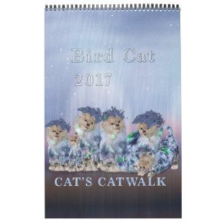 Calendario de la página del gato 2017 elegantes