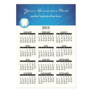 Calendario de la tarjeta de visita dental
