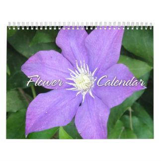 Calendario de las fotos 2012 de la flor