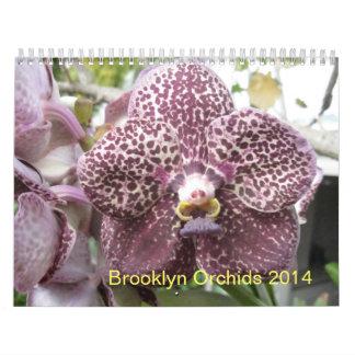 Calendario de las orquídeas 2014 de Brooklyn
