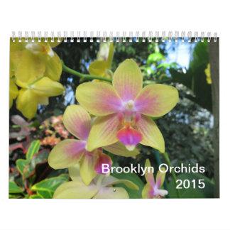Calendario de las orquídeas 2015 de Brooklyn