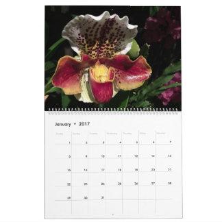 Calendario de las orquídeas 2017 de Brooklyn