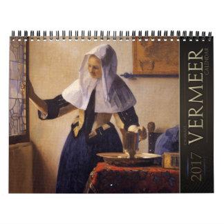 Calendario de las pinturas 2017 de enero Vermeer