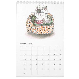 Calendario de los gatos del sushi