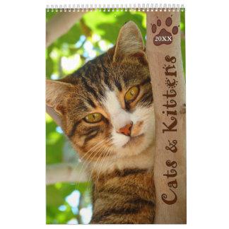 Calendario de los gatos y de los gatitos 2018 de