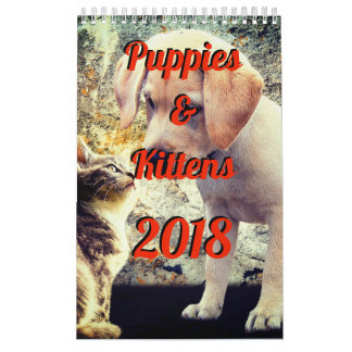 Calendario de los perritos y de los gatitos 2018