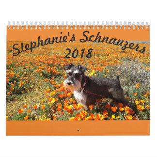 Calendario de los Schnauzers 2018 de Stephanies