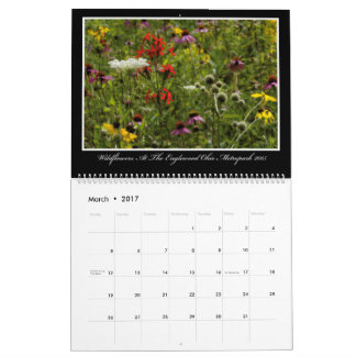 Calendario de los Wildflowers 2017 de Thomas