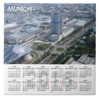 Calendario de Munich, Alemania 2016 Azulejo De Cerámica