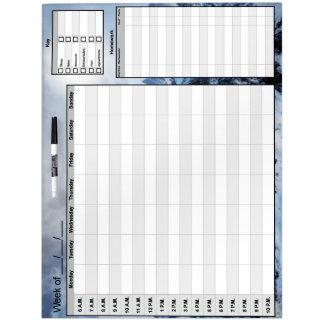 Calendario de organización de Whiteboard de la Pizarra Blanca