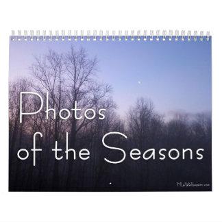 Calendario De Pared 12 meses de las fotos de las estaciones, 11ma