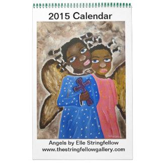 Calendario De Pared Ángeles afroamericanos del arte negro del