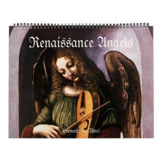 Calendario De Pared Ángeles del renacimiento del vintage, bella arte
