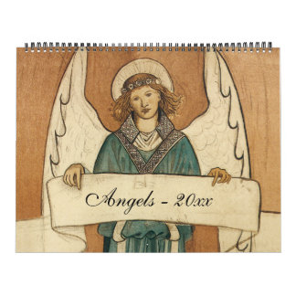 Calendario De Pared Ángeles religiosos del ejemplo del vintage,