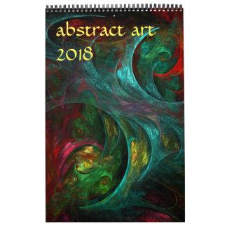 Calendario De Pared Arte abstracto moderno 2018