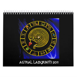 Calendario De Pared Astrología ASTRAL de la CARTA del ZODIACO del ORO