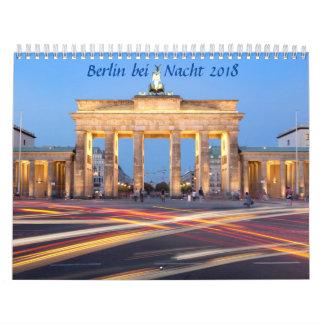 Calendario De Pared Berlín en la foto de la noche