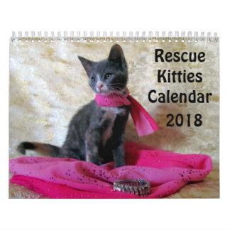 Calendario De Pared ¡Calendario del gatito del rescate - nuevo para