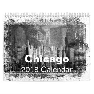 Calendario De Pared Chicago 2017